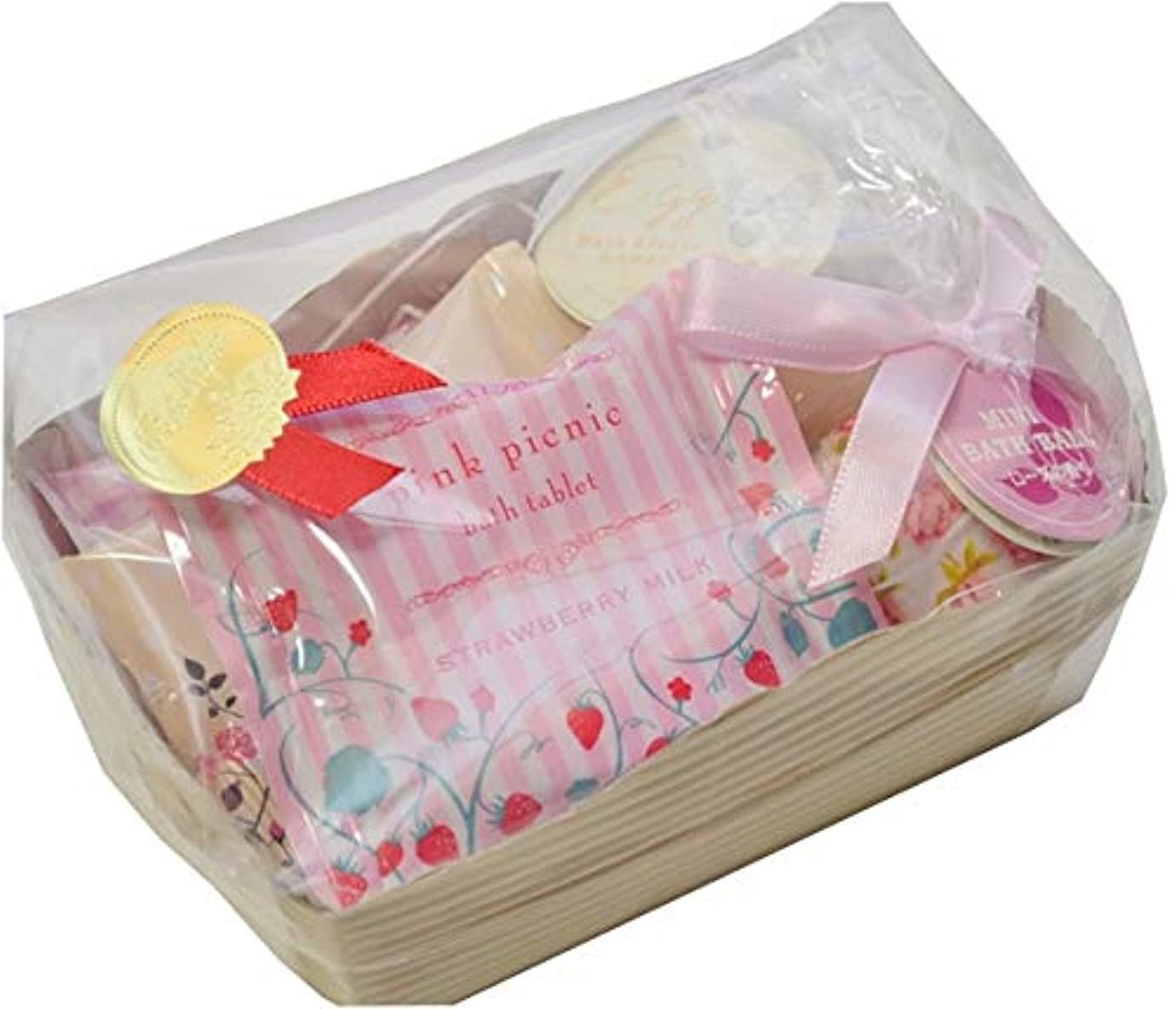 不足収束する蜂【ラッピング済み】ピンクバスギフトセット 5点セット 入浴剤 ギフト プレゼント