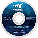 KastKing Paramount Tippet Spools Fly Fishing Line - Nylon Multiplex Monofilament -Abrasion Resistent for Freshwater or Saltwater - Wide Assortment Size 2X to 6X Available - 3 Spool / 5 Spool