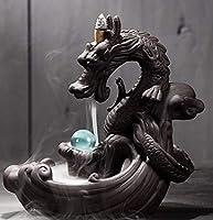ドラゴン 水晶 お香立て 香炉 龍 ユニークグッズ 癒し ヒーリング 瞑想