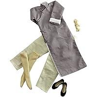 Blesiya カンフースーツ 1/6スケール グレー 長袖 ローブセット 12インチ フィギュア適用 衣装