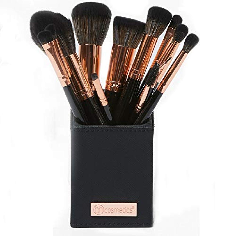 蚊暗記する約BH cosmetics メイクブラシ アイシャドウブラシ 化粧筆 貴族のゴールド メイクブラシセット13本セット 多機能メイクブラシケース付き収納便利