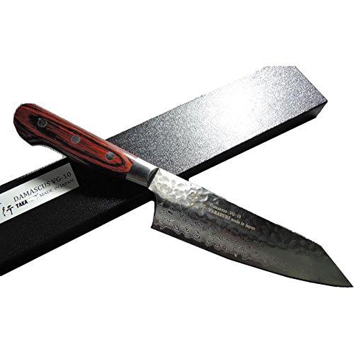 堺孝行 33層槌目ダマスカス 剣型三徳 160mm 07399