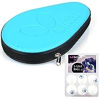 バタフライNLハードフルテーブルテニスラケットPing Pongケースバッグ& 3-starボールセット