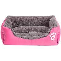 「YUANSHOP1」 洗える ペットベッド 小型 中型犬 猫 ワンちゃん ネコちゃん ベットマット ふわふわ クッション 冬 暖か ベッド (S, マゼンタ)
