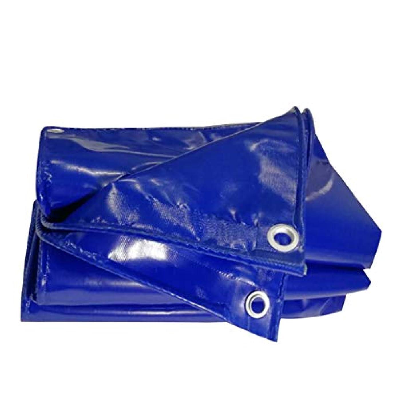聴衆しばしばオペラタープ アイレット付き100%防水折りたたみ式ポリタープUV保護ターポリン耐摩耗性防風グランドシートカバーブルー