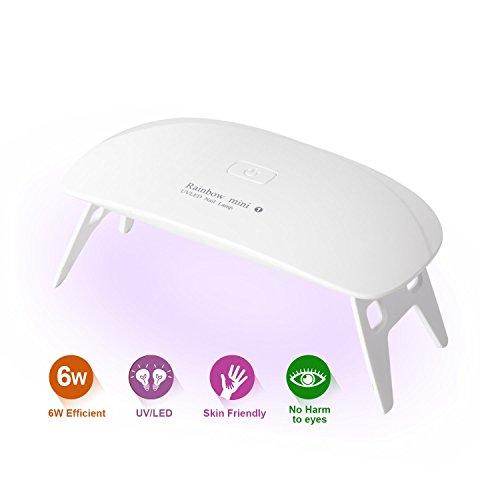 LEDネイルドライヤー AmoVee UVライト タイマー設定可能 折りたたみ式 ジェルネイル用 ホワイト