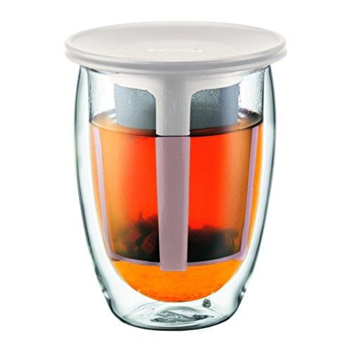 【正規品】 BODUM ボダム TEA FOR ONE ティーフィルター付きダブルウォールグラス 350ml K11153-913