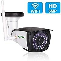 【最新型】防犯カメラ 屋外 監視カメラ wifi 500万画素 ネットワークカメラ ipカメラ HD ワイヤレス スマホ対応 MicroSDカード録画 暗視 動体検知 双方向音声 家庭用 無線 防水 ベビー/老人/ペット見守り