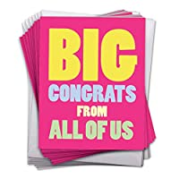 "Big Congratulations Card with Envelope (10パック) – Big Congratsから米国It 's Time to Celebrate 。 – Fun &カラフルカードfor Extra Large共鳴& Appreciation (8.5 "" X 11 "") – j3893cgg-j10 X 1-us"