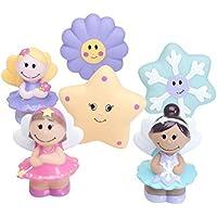 Elegant Baby 6 Piece Bath Time Fun Rubber Water Squirties Vinyl Zip Storage Bag, Fairy Party by Elegant Baby [並行輸入品]
