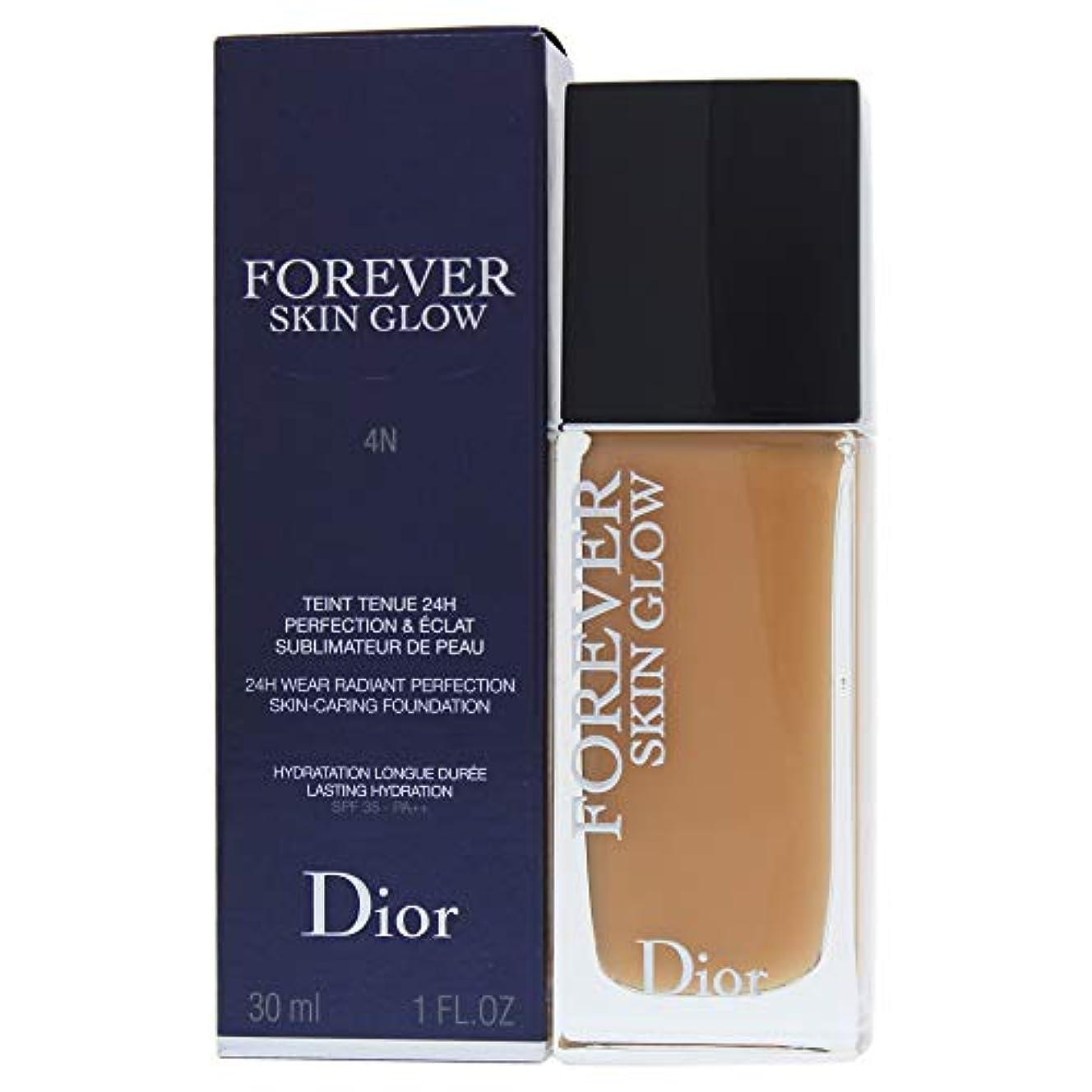 注入きらきら幻滅クリスチャンディオール Dior Forever Skin Glow 24H Wear High Perfection Foundation SPF 35 - # 4N (Neutral) 30ml/1oz並行輸入品