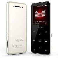 Victure Bluetooth対応 MP3プレーヤー 光るタッチボタン スピーカー内臓 FMラジオ HIFI超高音質 デジタルオーディオプレーヤー 8GB内蔵容量 最大64GBまで拡張可能 歩数計 合金制 1.8イン多彩スクリーン ブラック