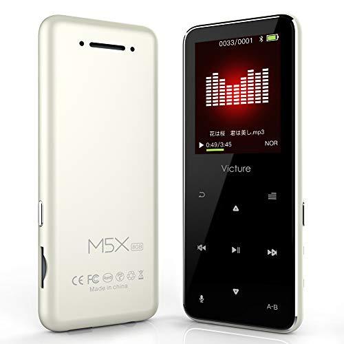 Victure Bluetoothアップデート MP3プレーヤー 光るタッチボタン スピーカー内臓 FMラジオ HIFI超高音質 デジタルオーディオプレーヤー 8GB内蔵容量 最大64GBまで拡張可能 歩数計 合金制 1.8イン多彩スクリーン ブラック