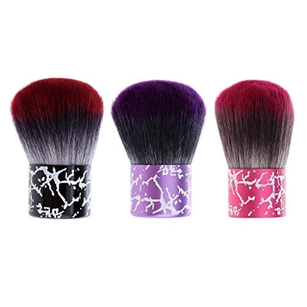 Perfeclan ヘアブラシ 毛払いブラシ ABSハンドル 散髪 髪切り 散髪用ツール 理髪店 美容院 ソフト 3個入り