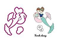 Julie Nutting Stamp & Die Set-Mermaid Kisses Besties
