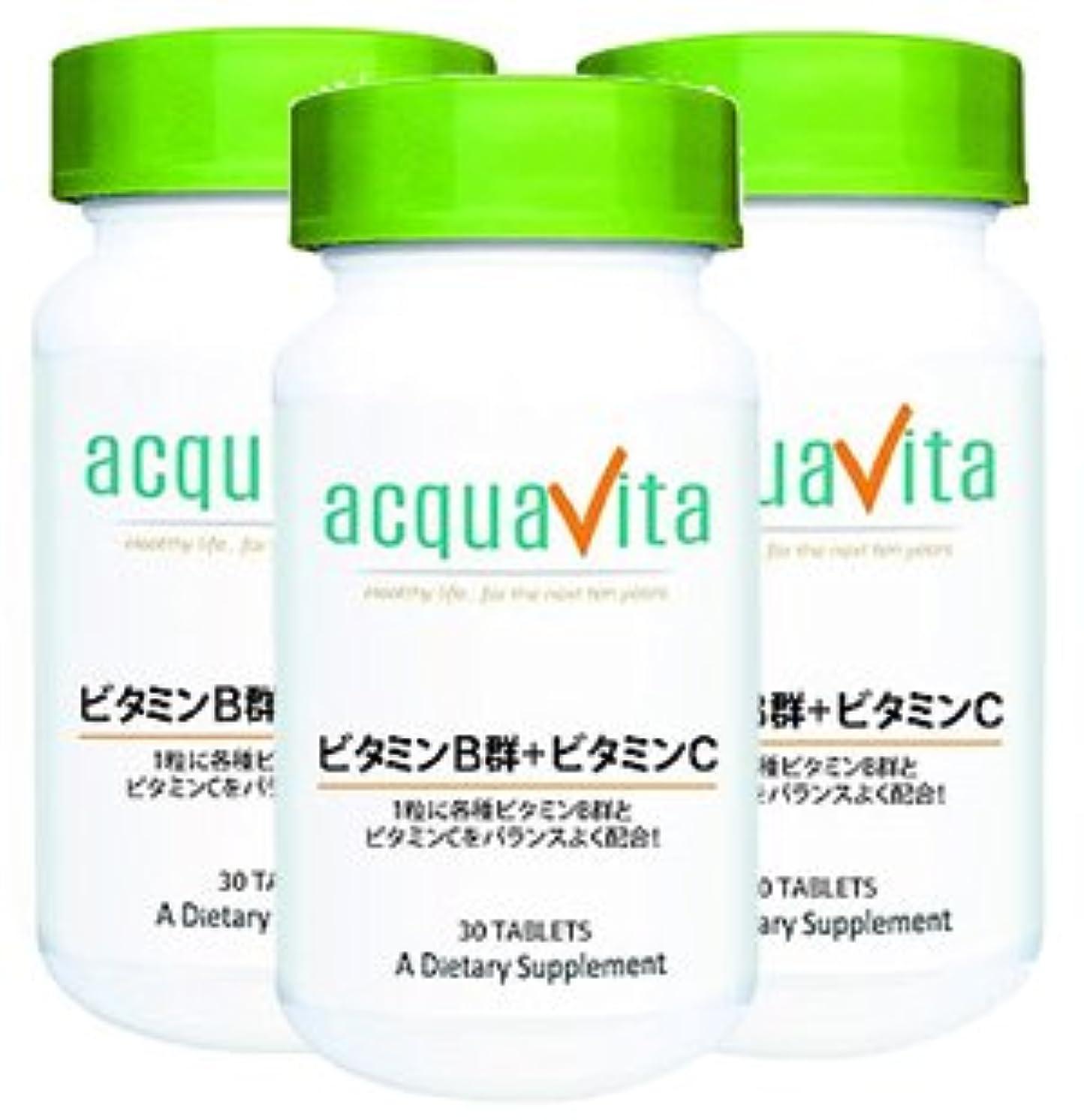 アカデミック北方死すべきアクアヴィータ ビタミンB群+ビタミンC(アクアビータ?Acquavita)【3本セット】