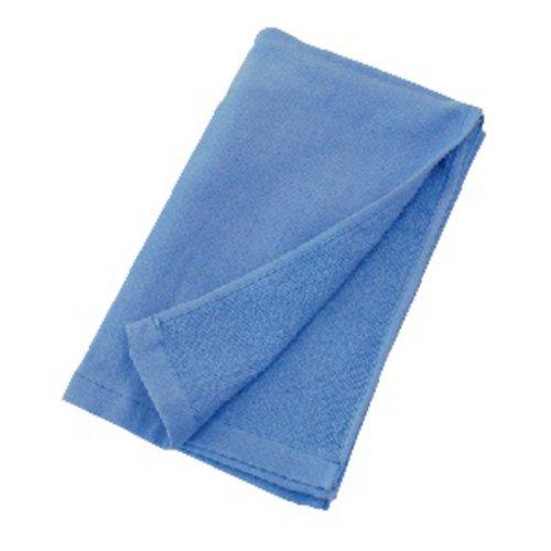 綿ガーゼロングタオル FTー265 青 1セット(10袋) 福徳産業