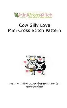 Cow Silly Love Mini Cross Stitch Pattern by [Stitch, Pinoy]