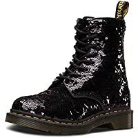 Dr. Martens 1460 Pascal Sequin Womens Black/Silver Boots