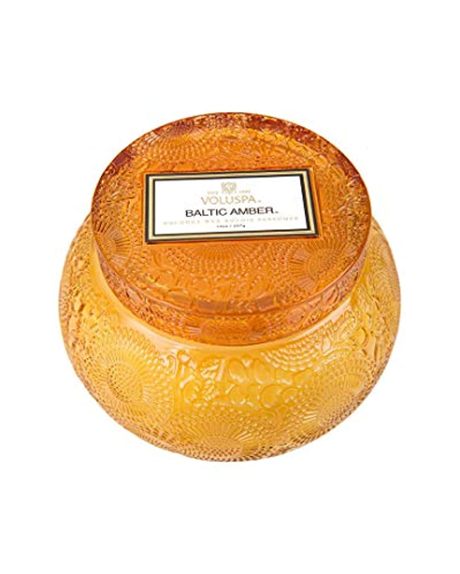 コーナーリブ球状VOLUSPA チャワングラスキャンドル Baltic Amber バルティックアンバー GLASS CANDLE ボルスパ