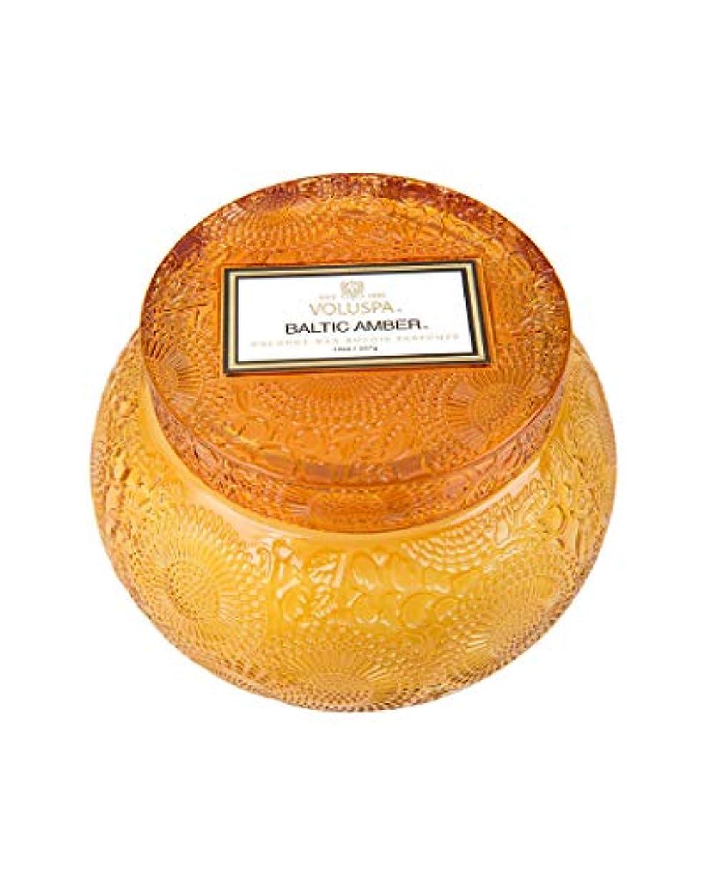 キルト事務所寛容なVOLUSPA チャワングラスキャンドル Baltic Amber バルティックアンバー GLASS CANDLE ボルスパ