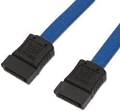 アイネックス シリアルATAケーブル ブルー 30cm SAT-3003BL