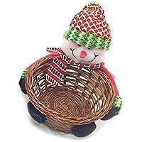 TeFuAnAn クリスマス バスケット キャンディーバスケット 収納バスケット 収納箱 クリスマスプレゼント 可愛い飾り 雪だるま 子供のおもちゃ