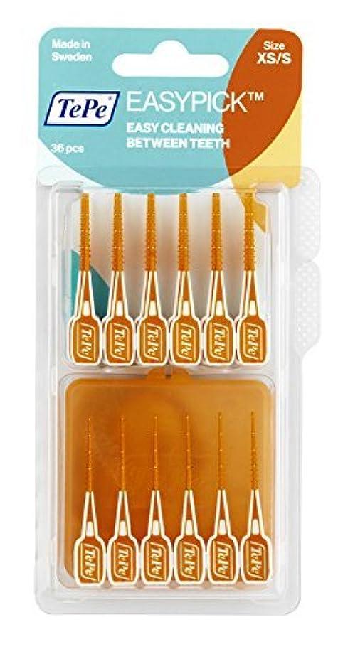 ドラッグ等しいうるさいTePe Easy Pick Interdental Brush, Orange, Size: XS/S, Pack of 1 x 36 by TePe