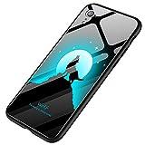 Aliciga ハロウィン 夜光 強化ガラス 色とりどり 携帯電話ケース iPhone X 5.8インチ用 XS MAX 6.5インチ用 XR 6.1インチ用 ケース 360°全面保護 携帯電話ホルダー 保護カバー 耐衝撃カバー バンパー 落下防止&衝...