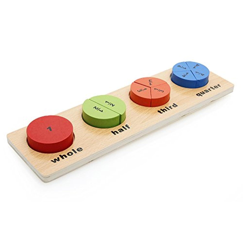 Rolimate木製ベビーシェイプ&色認識カラフルな幾何ボードスタックソートパズルおもちゃ( 4 )