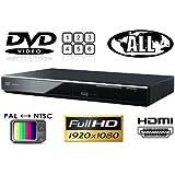 パナソニック Panasonic DVD-S700 リージョンフリーDVDプレーヤー(PAL/NTSC対応) 全世界のDVDが視聴可能 【輸入販売店限定保証書/HDMIケーブル/変換プラグ/世界のリージョンコード&映像方式ガイド)付属】 (並行輸入品)
