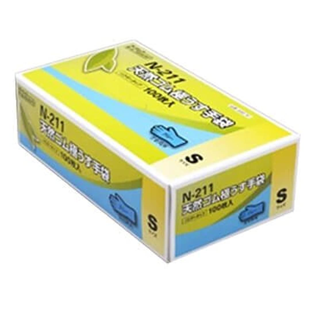 満たす暖かく文【ケース販売】 ダンロップ 天然ゴム極うす手袋 N-211 S ブルー (100枚入×20箱)