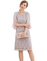 6b8a49be92d28 Amazon.co.jp  グレー - ワンピース・ドレス   レディース  服 ...