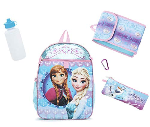 Disney Princess ディズニープリンセス アナと雪の女王 フルサイズリュックサック/40cm (ペンケース ミニバック ウォータボトルセット)