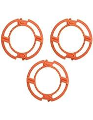 FairCargo シェーバーヘッドフレームホルダーカバー ブレードフレーム Philips Norelcoシリーズ7000 9000 RQ12シリーズ用 オレンジ 3PCS