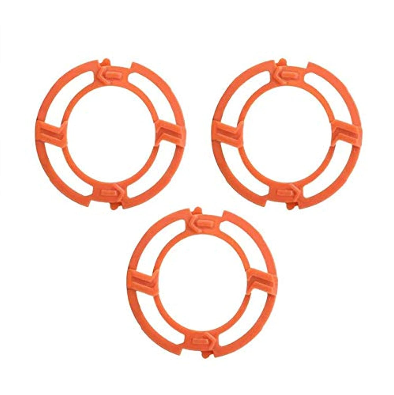 ストレンジャーダイアクリティカル表現FairCargo シェーバーヘッドフレームホルダーカバー ブレードフレーム Philips Norelcoシリーズ7000 9000 RQ12シリーズ用 オレンジ 3PCS