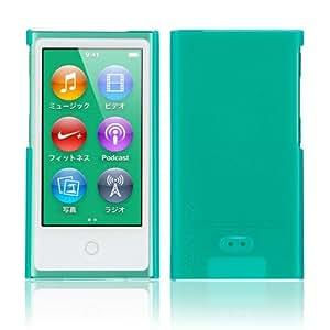 Simplism iPod nano (7th) ハードカバー 傷防止UVコーティング 液晶保護フィルム付属 抗菌仕様 グリーン TR-CCNN12-GR