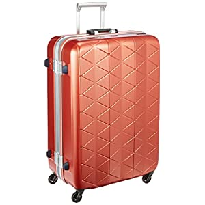 [サンコー] SUPERLIGHTS MGC スーツケース スーパーライト 軽量 大型 抗菌ハンドル マグネシウムフレーム 容量93L 縦サイズ74cm 重量4.2kg MGC1-69 エンボスカッパーオレンジ