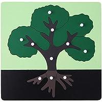 Domybest 動物 植物 幼稚園 木製 キッズ 子供 立体パズル オモチャ 人気 積み木 子供向けパズル 創意プレゼント
