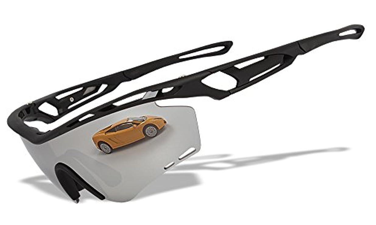 金曜日栄光実際シルバーミラー レンズ3枚 オリジナル スポーツサングラス RU