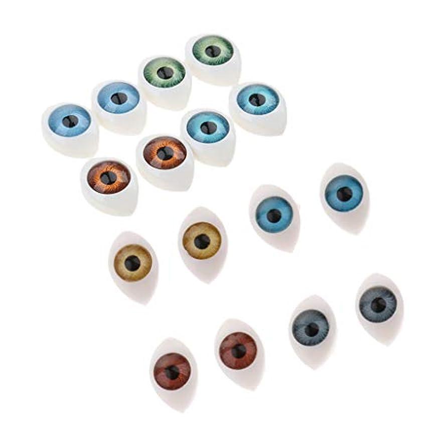放散するピニオン広々としたToygogo プラスチック製 ドールアイ 眼球模型 カラフル オーバル 人形 眼 目 ドールメイキング 約16個