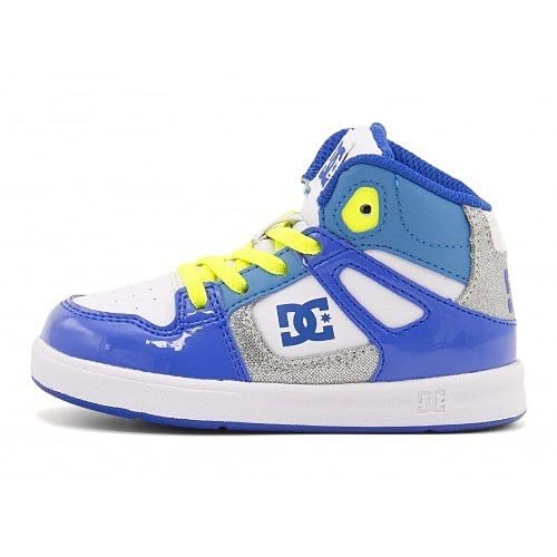 [ディーシーシュー] DC SHOE 女の子 男の子 キッズ ベビー 子供靴 運動靴 通学靴 ハイカット スニーカー トドラーズ リバウンド ハイ TODDLERS REBOUND HIGH SE UL ADTS700037 W/ブルー 16.0cm