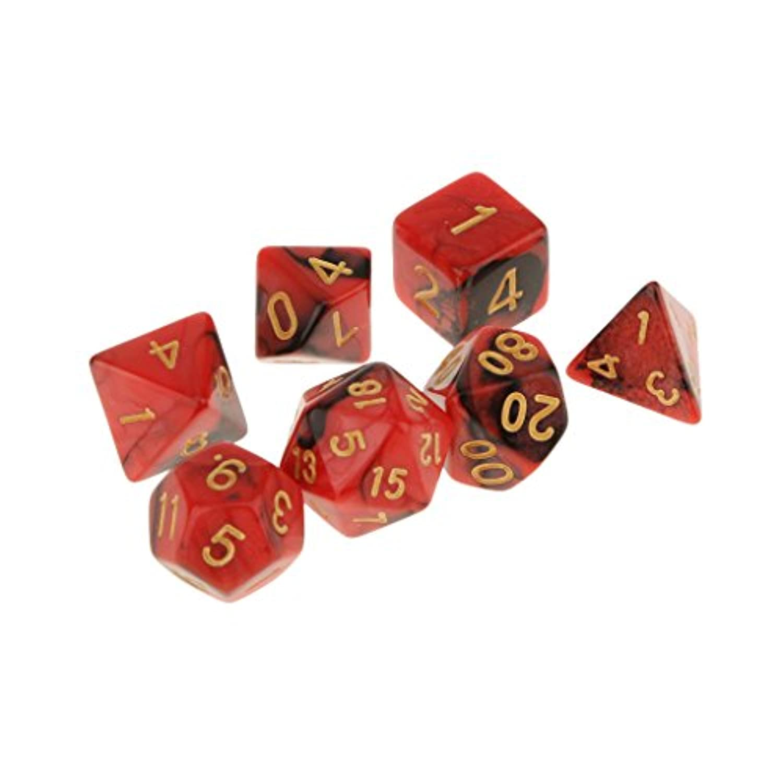 KOZEEYダイス 不透明 マルチスポットダイス D&D RPGゲーム 小道具 7PCS #2