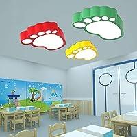 RXY-シーリングライト 子供部屋シンプルソリッドカラー足首スタイル天井ランプ人格クリエイティブLEDアイプロテクション照明{1pack} (Color : Green, サイズ : 55x40cm)