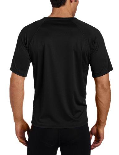 Kanu Surf Men's Big Extended-Size UPF 50+ Solid Rashguard Swim Shirt - Black - XXX-Large