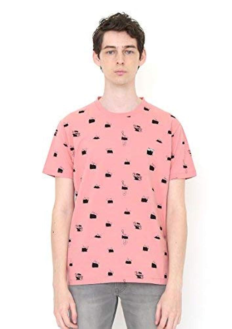 管理保証金剣(グラニフ) graniph コラボレーションTシャツ/スパイダーパターン (手塚治虫ショートスリーブティーB) (サンゴ)