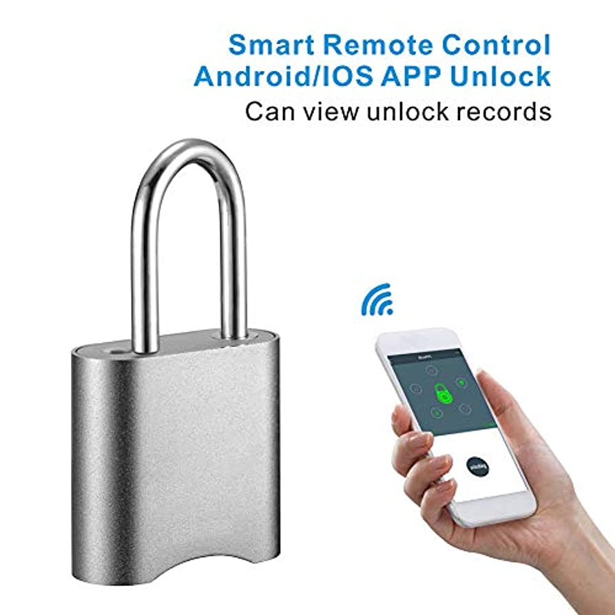 真面目なバウンス高める小さい インテリジェントな エレクトロニクス パスワード APPリモート Bluetooth 南京錠 荷物のロック (キーレスロック解除)、 アウトドア 盗難防止 自転車ロック、