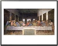 レオナルド・ダ・ヴィンチ 最後の晩餐 【ポスター+フレーム】約 61 x 81 cm ブラック