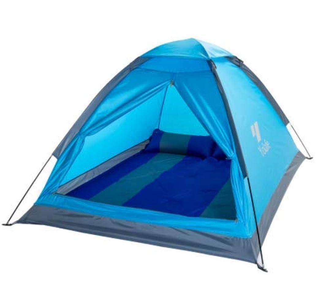 悪意確認する渇きWppolika 高速キャンプダブルテント3-4人防水日焼け止め雨ビーチキャンプ家族のピクニックパーティー高級オックスフォード布ポータブルインストールが簡単