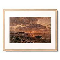 Ducker, Eugen,1841-1916 「Sonnenuntergang an der Ostsee. 1908.」 額装アート作品